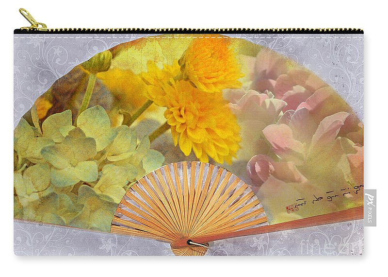 Nature Carry-all Pouch featuring the photograph Floral Fan by Debbie Portwood