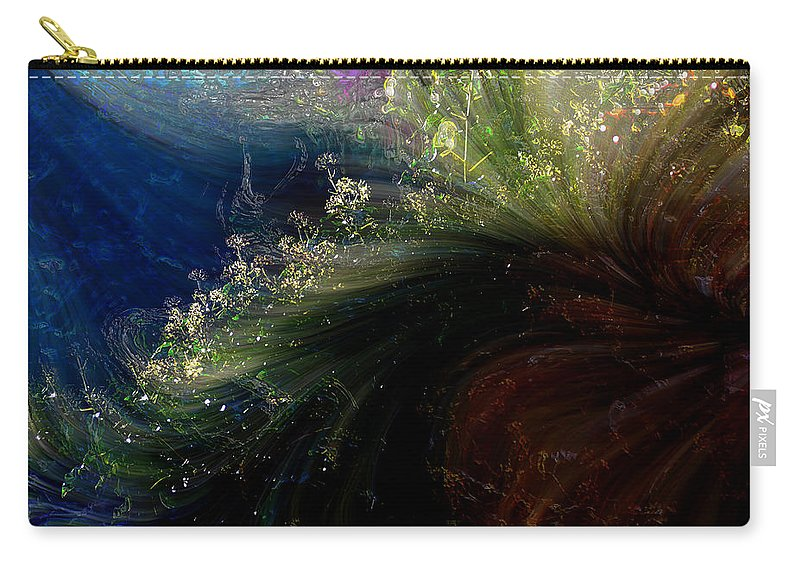 Abstract Carry-all Pouch featuring the photograph Floral Fantasia by Richard Thomas