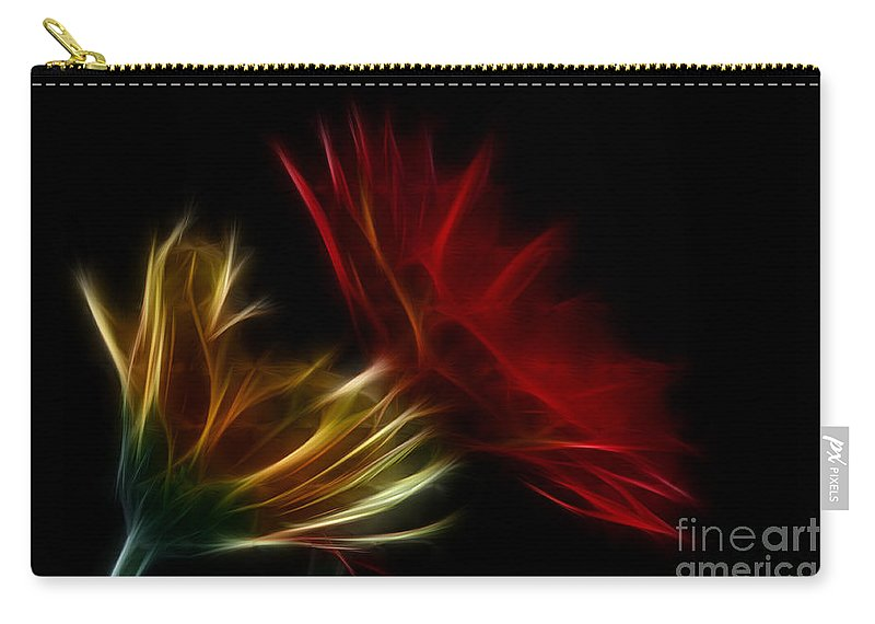 Flower Carry-all Pouch featuring the photograph Floral Fantasy by Bianca Nadeau