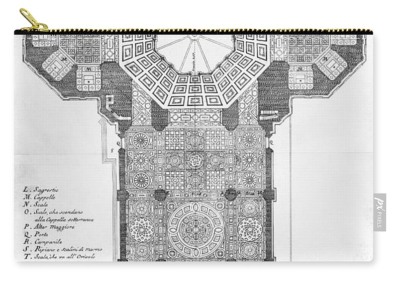 18th Century Carry-all Pouch featuring the photograph Florence: Cathedral by Granger