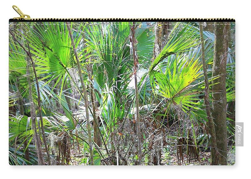 Florida Palmetto Bush Carry-all Pouch featuring the photograph Florida Palmetto Bush by Carol Groenen