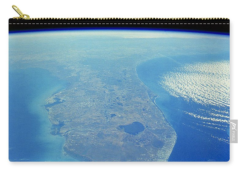 Science Carry-all Pouch featuring the photograph Florida Peninsula, Discovery Shuttle by Science Source
