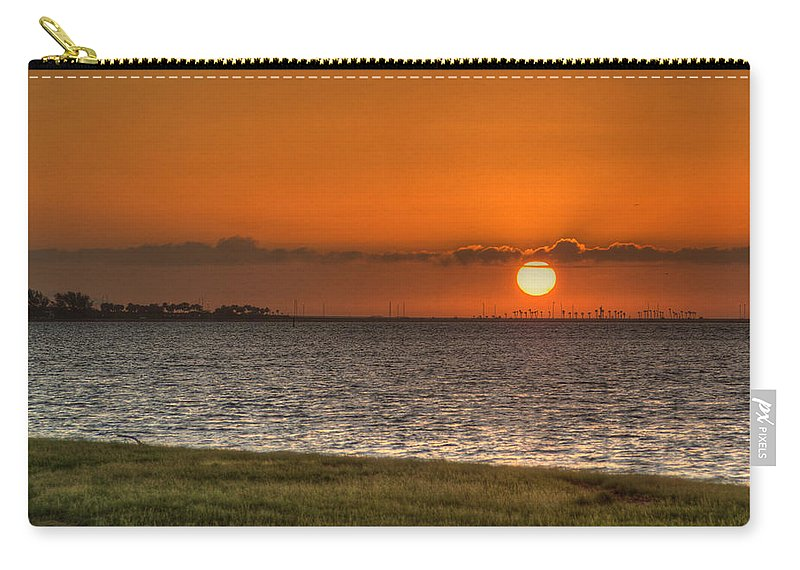 Florida Carry-all Pouch featuring the photograph Florida Sunrise by Jane Luxton