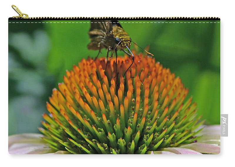 Butterfly Carry-all Pouch featuring the photograph Flower Feeding by Richard Bryce and Family