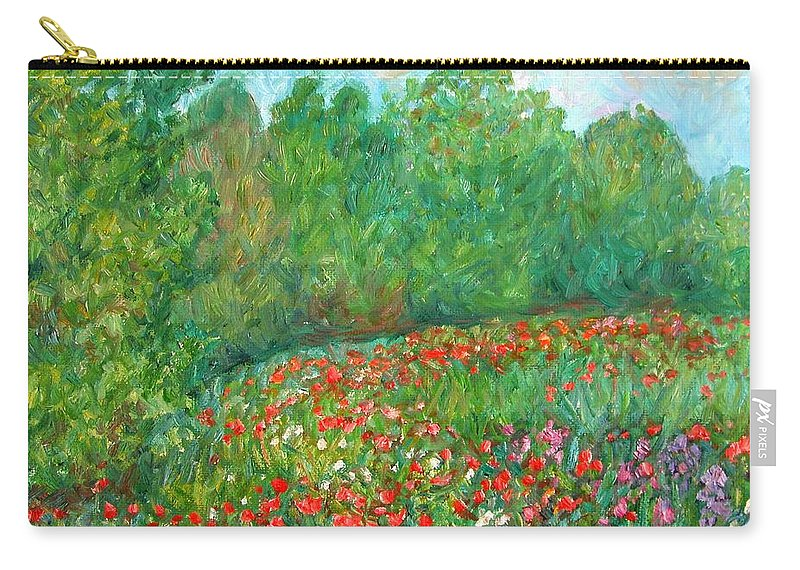 Blue Ridge Paintings Carry-all Pouch featuring the painting Flower Field by Kendall Kessler