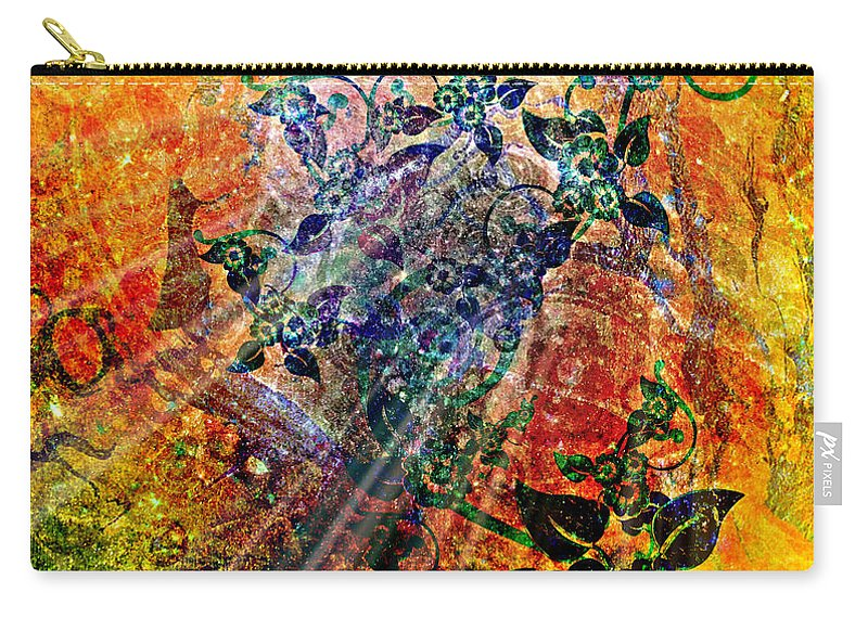 Flower Carry-all Pouch featuring the digital art Flower Field Trip by Ally White
