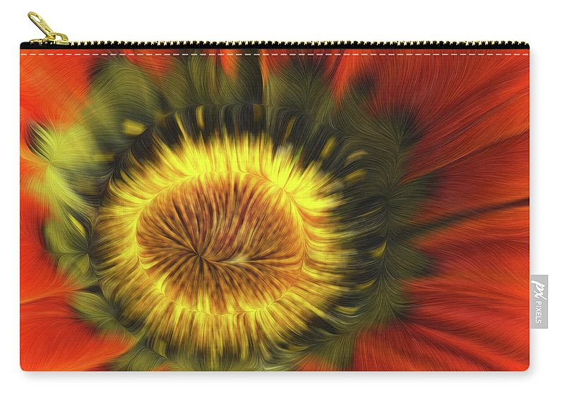 Flower Carry-all Pouch featuring the photograph Flower Fractal by Angela Stanton