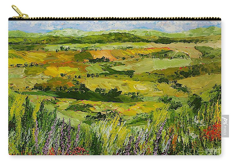 Landscape Carry-all Pouch featuring the painting Flower Gate by Allan P Friedlander