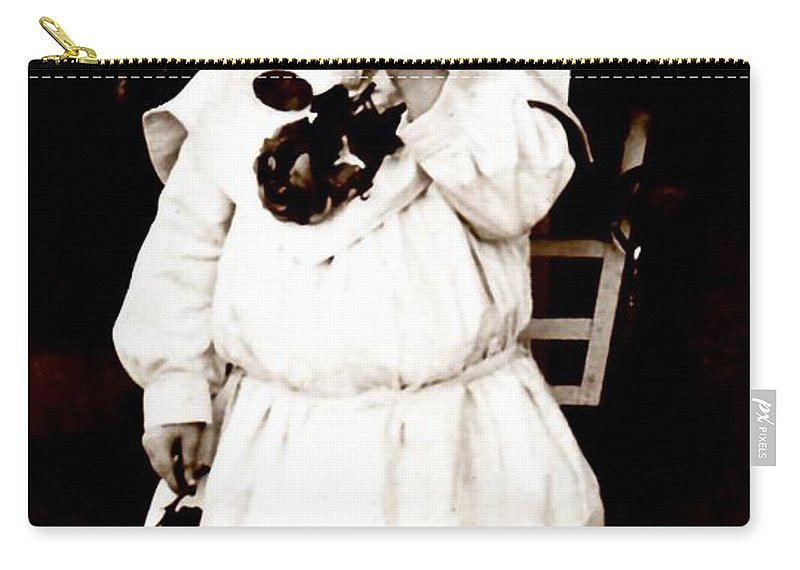 Vintage Carry-all Pouch featuring the photograph Flower Girl by Image Takers Photography LLC