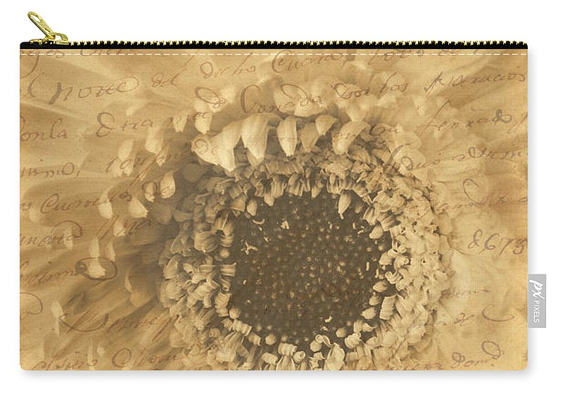 Flower Secrets Carry-all Pouch featuring the photograph Flower Secrets by Garry Gay