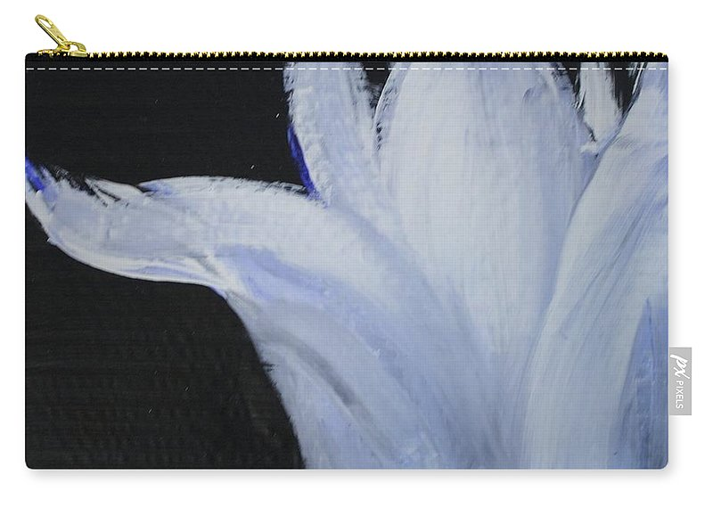 Flower Carry-all Pouch featuring the painting Flower Study 2 by Birdie Garcia