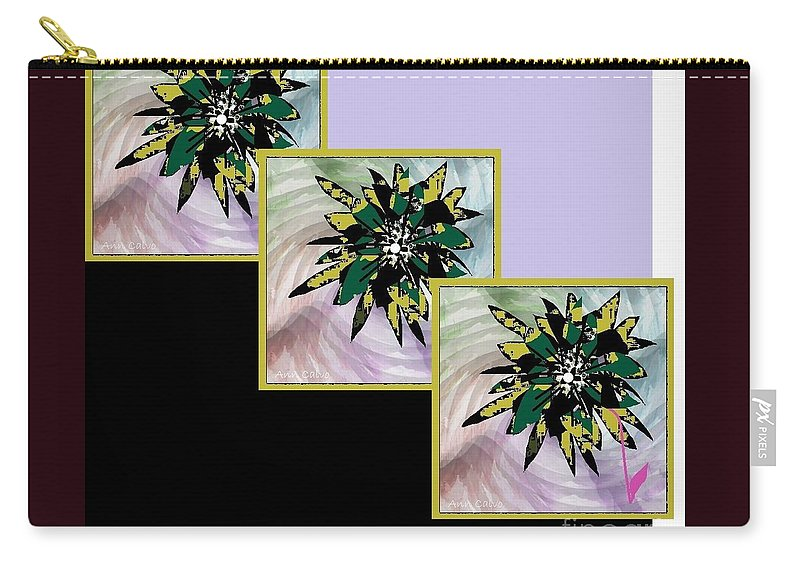 Flower Lovers Carry-all Pouch featuring the digital art Flower Time by Ann Calvo