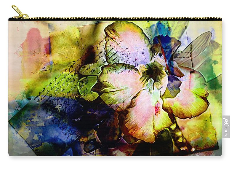 Flower Carry-all Pouch featuring the photograph Flowered Memories by Alice Gipson