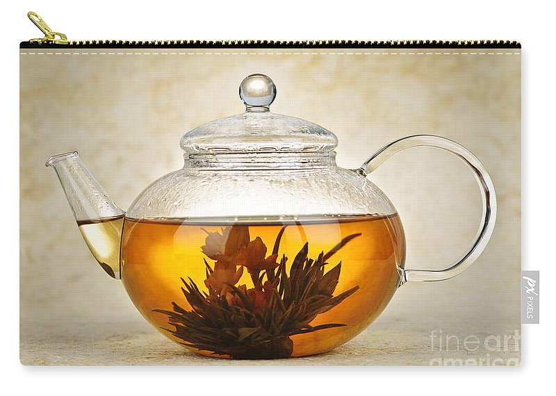 Flowering Carry-all Pouch featuring the photograph Flowering Blooming Tea by Elena Elisseeva