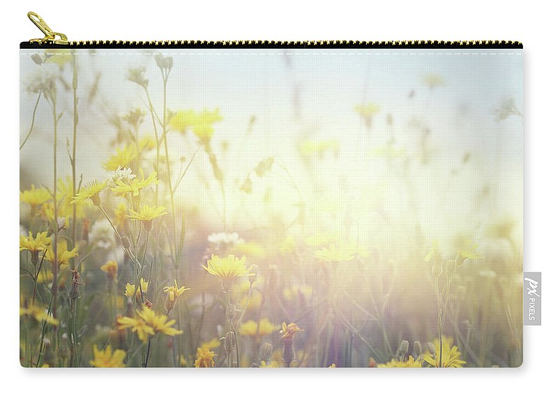 Scenics Carry-all Pouch featuring the photograph Flowering Field by Pobytov
