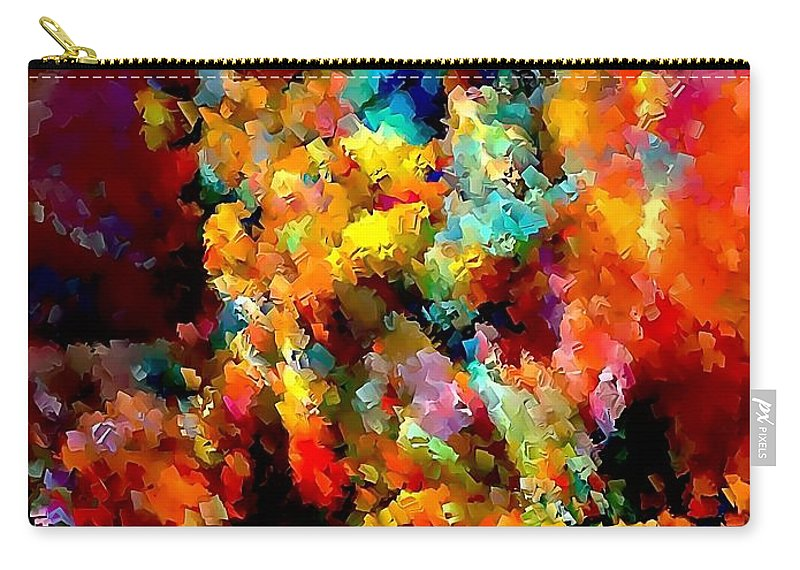Graphics Carry-all Pouch featuring the digital art Flowers 0525 Marucii by Marek Lutek
