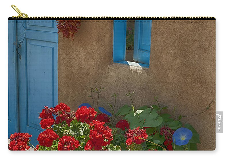 Flowers Carry-all Pouch featuring the photograph Flowers At Ranchos De Taos by Greg Kluempers