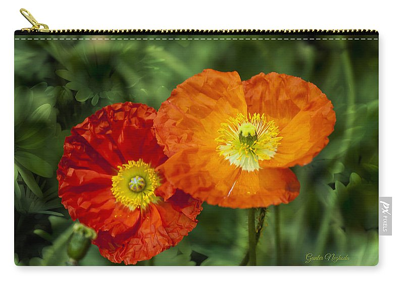 Anniversary Carry-all Pouch featuring the photograph Flowers In Kodakchrome by Gunter Nezhoda
