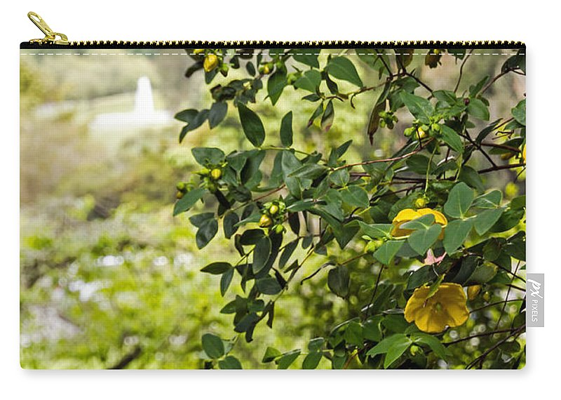 Bush Carry-all Pouch featuring the photograph Flowers In The Park by Kate Brown