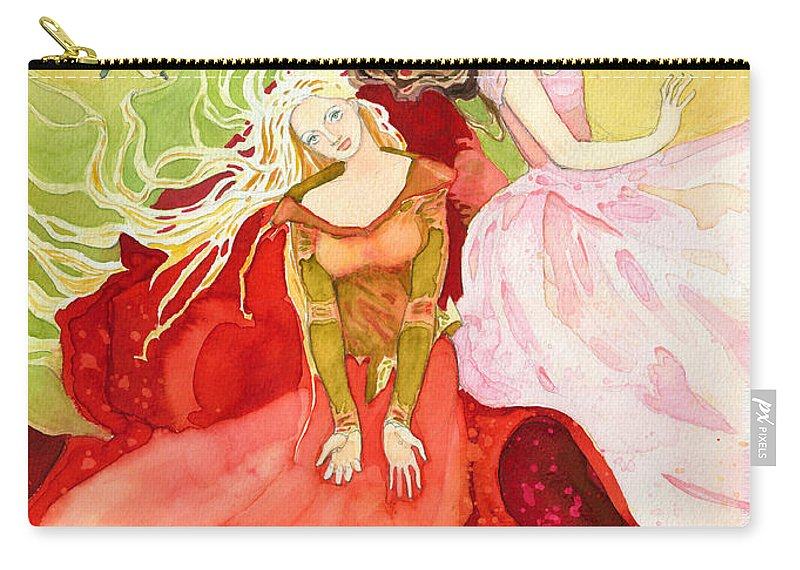 Water Carry-all Pouch featuring the painting Flowers In Water by Katherine Miller