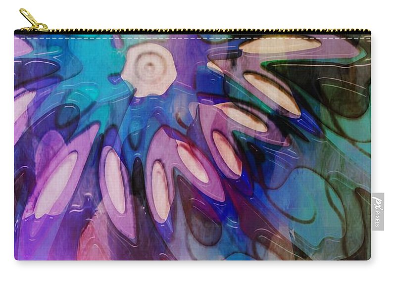 Digital Art Carry-all Pouch featuring the digital art Flowery Illusion by Amanda Moore