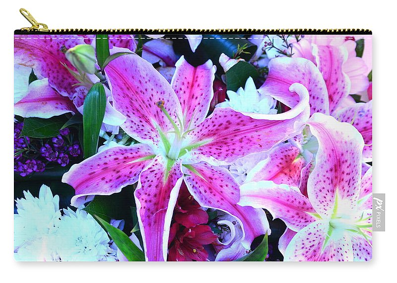 Flowers Carry-all Pouch featuring the photograph Flowerz2 by Riad Belhimer