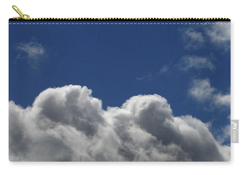 Clouds Carry-all Pouch featuring the photograph Fluffy Clouds 1 by Carol Lynch