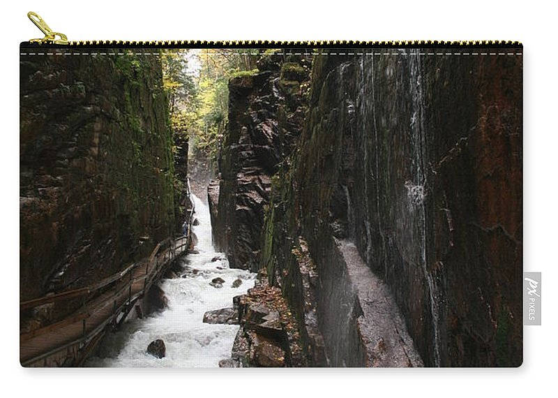Franconia Notch Carry-all Pouch featuring the photograph Flume Gorge Franconia Notch by Christiane Schulze Art And Photography