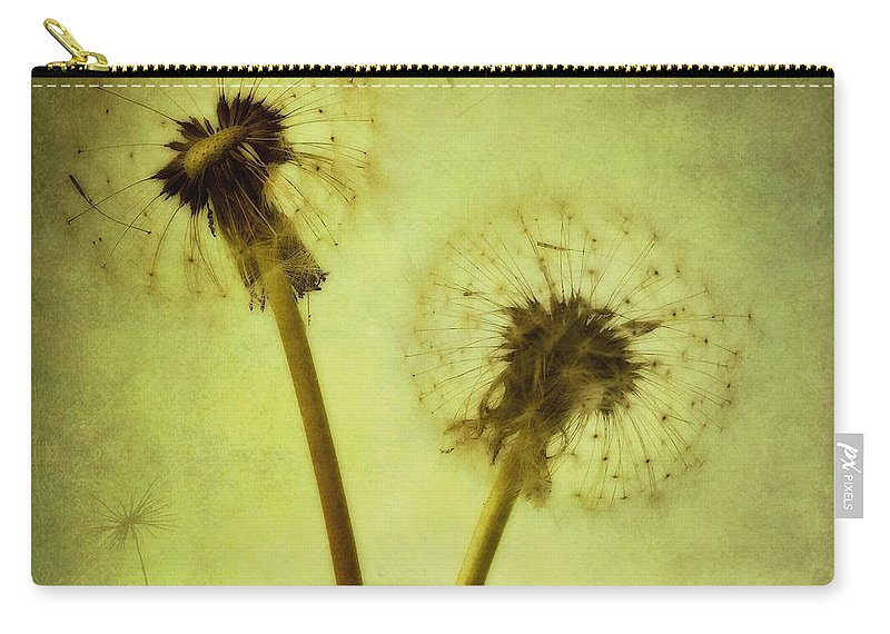Dandelion Carry-all Pouch featuring the photograph Fly Away by Priska Wettstein