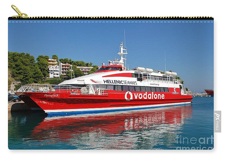 Alonissos Carry-all Pouch featuring the photograph Flying Cat 5 by David Fowler