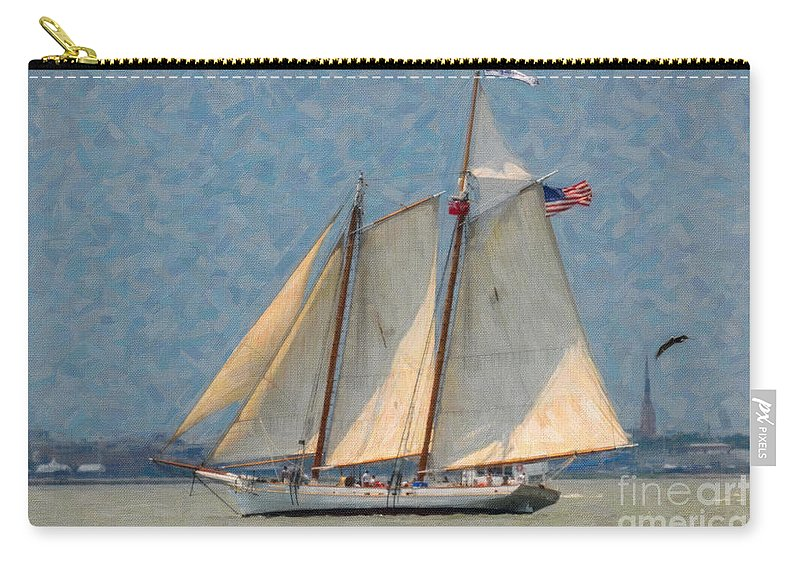 Spirit Of Sc Carry-all Pouch featuring the digital art Flying Cloud by Dale Powell