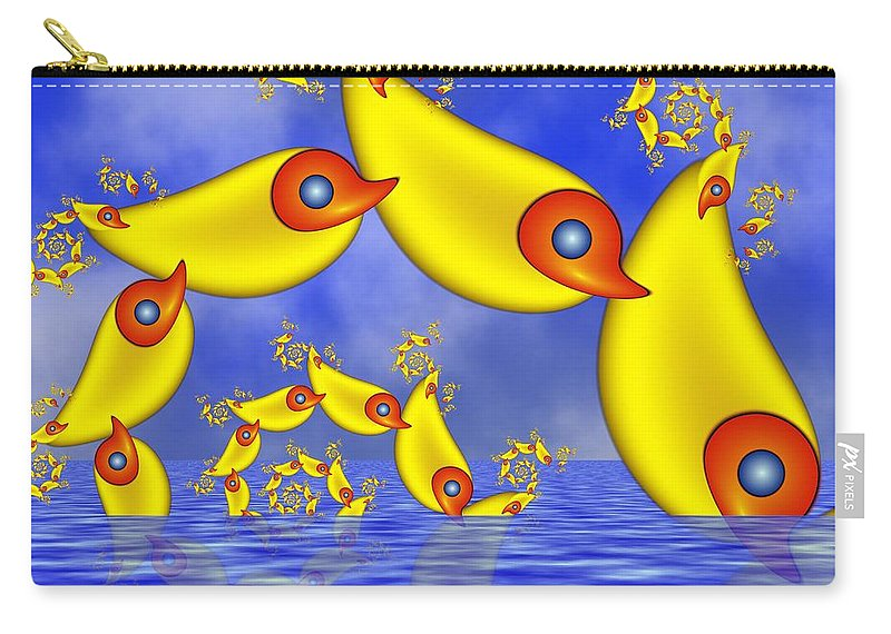 Childsroom Carry-all Pouch featuring the digital art Jumping Fantasy Animals by Gabiw Art