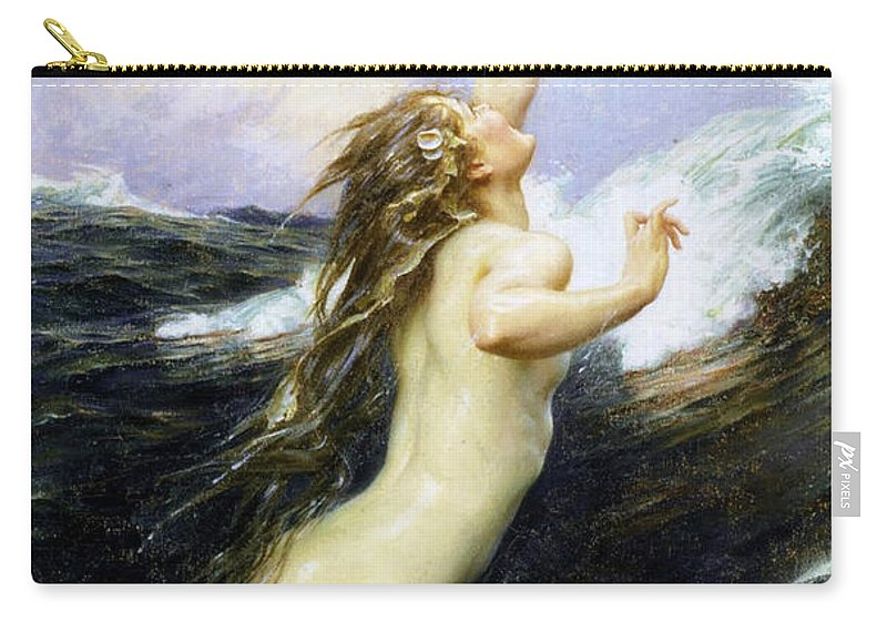 Herbert James Draper Carry-all Pouch featuring the photograph Flying Fish by Munir Alawi