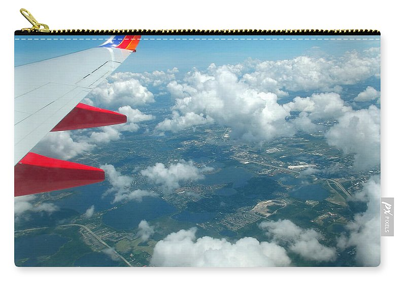 Southwest Carry-all Pouch featuring the photograph Flying High 3 by Jennifer Lavigne