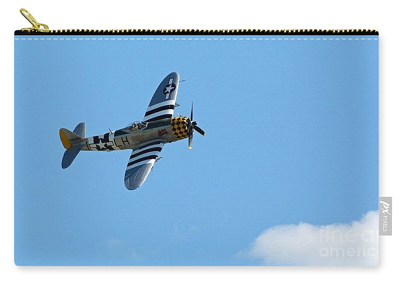 Airplanes Carry-all Pouch featuring the photograph Flying High by Cindy Manero