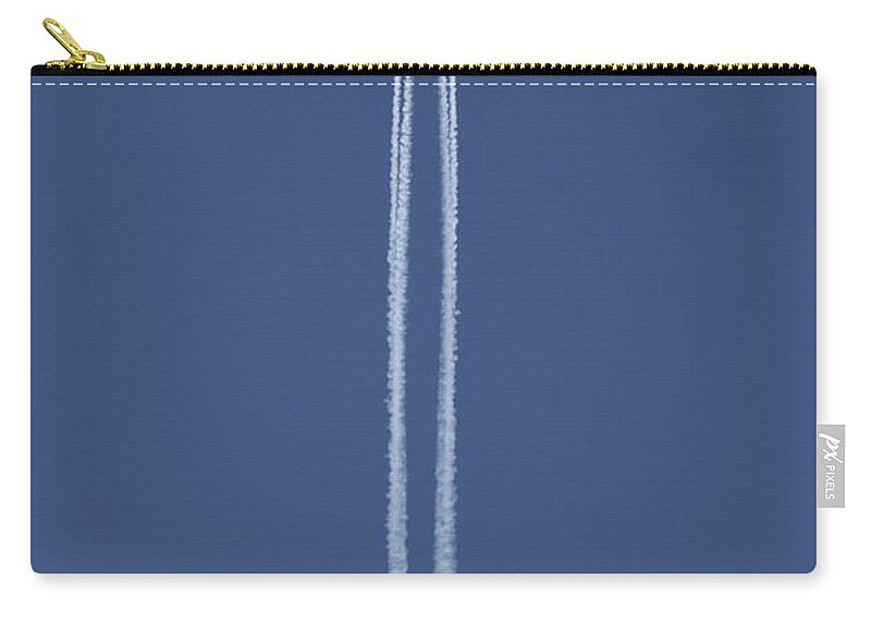 Blue Carry-all Pouch featuring the photograph Flying Up by Michal Boubin