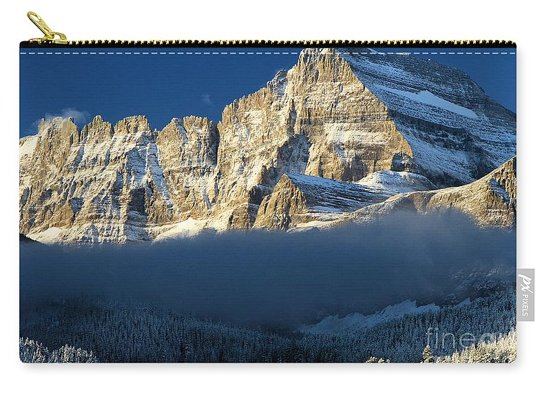 Glacier National Park Carry-all Pouch featuring the photograph Fog In The Middle by Adam Jewell