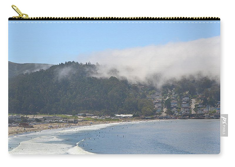 California Carry-all Pouch featuring the photograph Fog On Pedro Point by Dean Ferreira