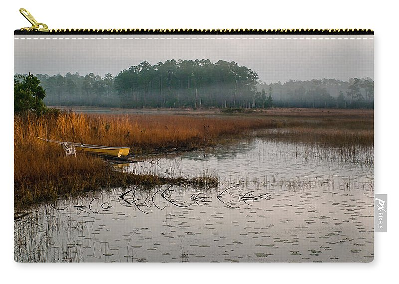 Fog Carry-all Pouch featuring the photograph Fog On The Lake by Gabrielle Harrison