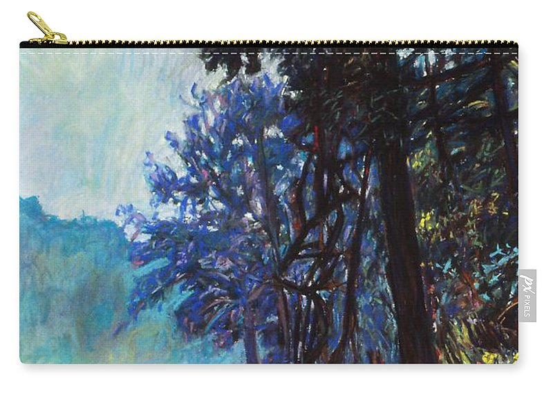 Kendall Kessler Carry-all Pouch featuring the painting Fog On The New River by Kendall Kessler