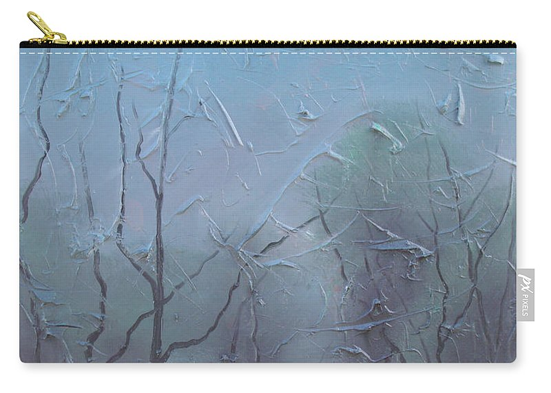 Landscape Carry-all Pouch featuring the painting Fog by Sergey Bezhinets