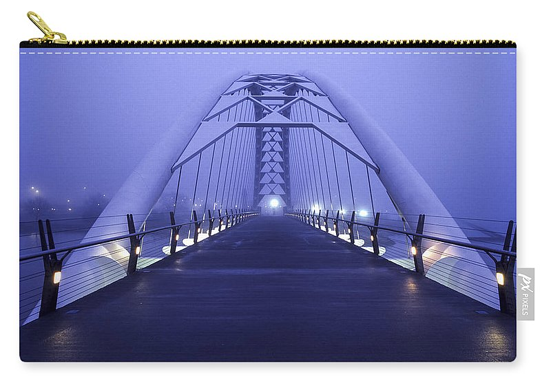 Foggy Carry-all Pouch featuring the photograph Foggy Humber Morning by Richard Kitchen