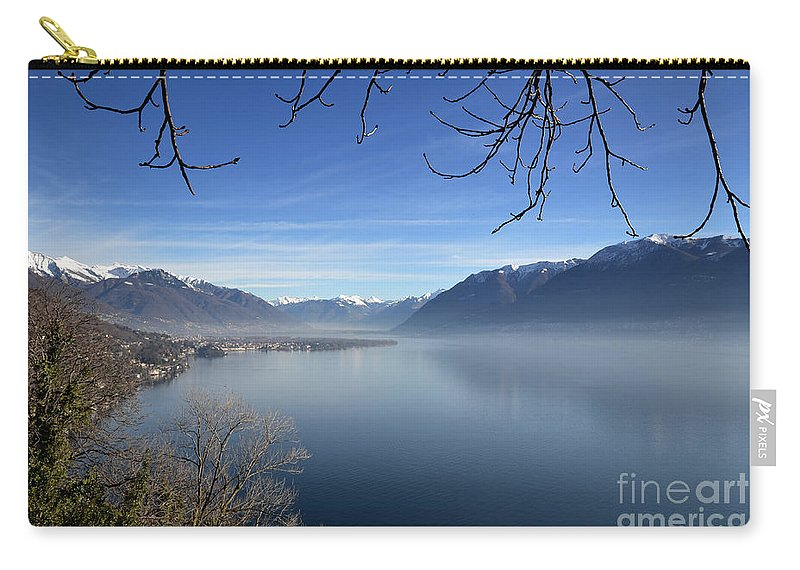 Lake Carry-all Pouch featuring the photograph Foggy Lake by Mats Silvan