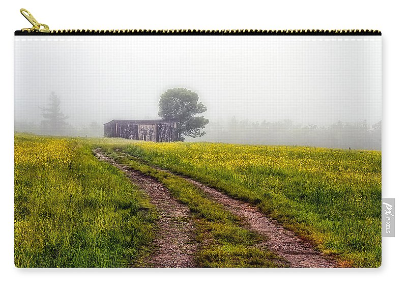 Landscape Carry-all Pouch featuring the photograph Foggy Morning by Bob Orsillo