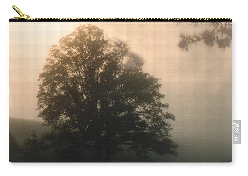Sunrise Carry-all Pouch featuring the photograph Foggy Morning by Norman Johnson