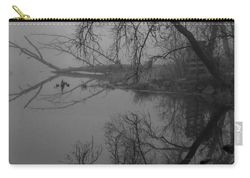 Fog Carry-all Pouch featuring the photograph Foggy Reflections by Lauri Novak