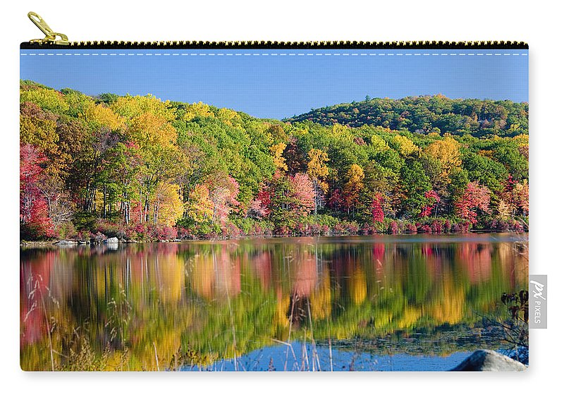 Lake Carry-all Pouch featuring the photograph Foilage In The Fall by Anthony Sacco