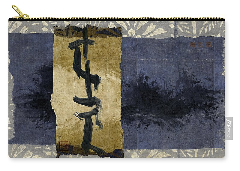 Japanese Carry-all Pouch featuring the photograph Folded Indigo by Carol Leigh