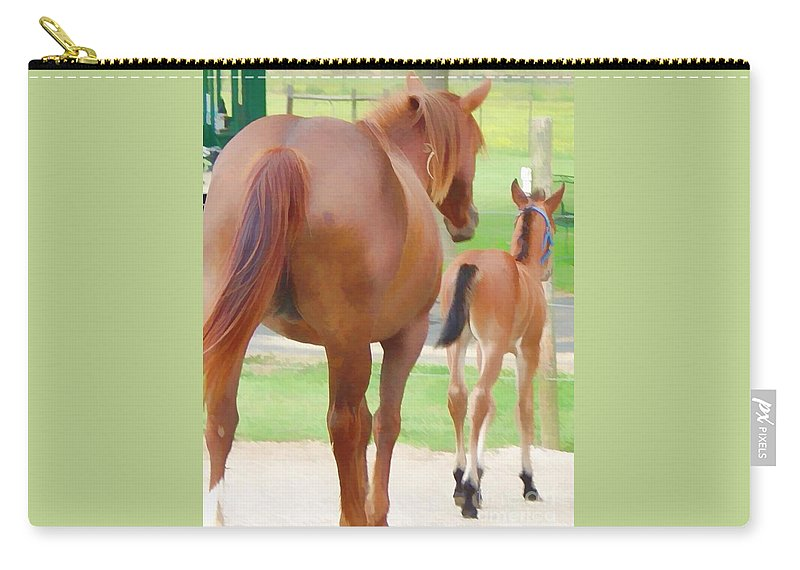 Horse Carry-all Pouch featuring the photograph Follow The Leader by Lesa Fine