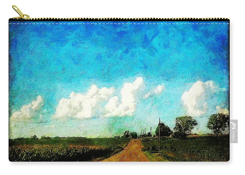 Clouds Carry-all Pouch featuring the painting Follow the Leader by Sandy MacGowan